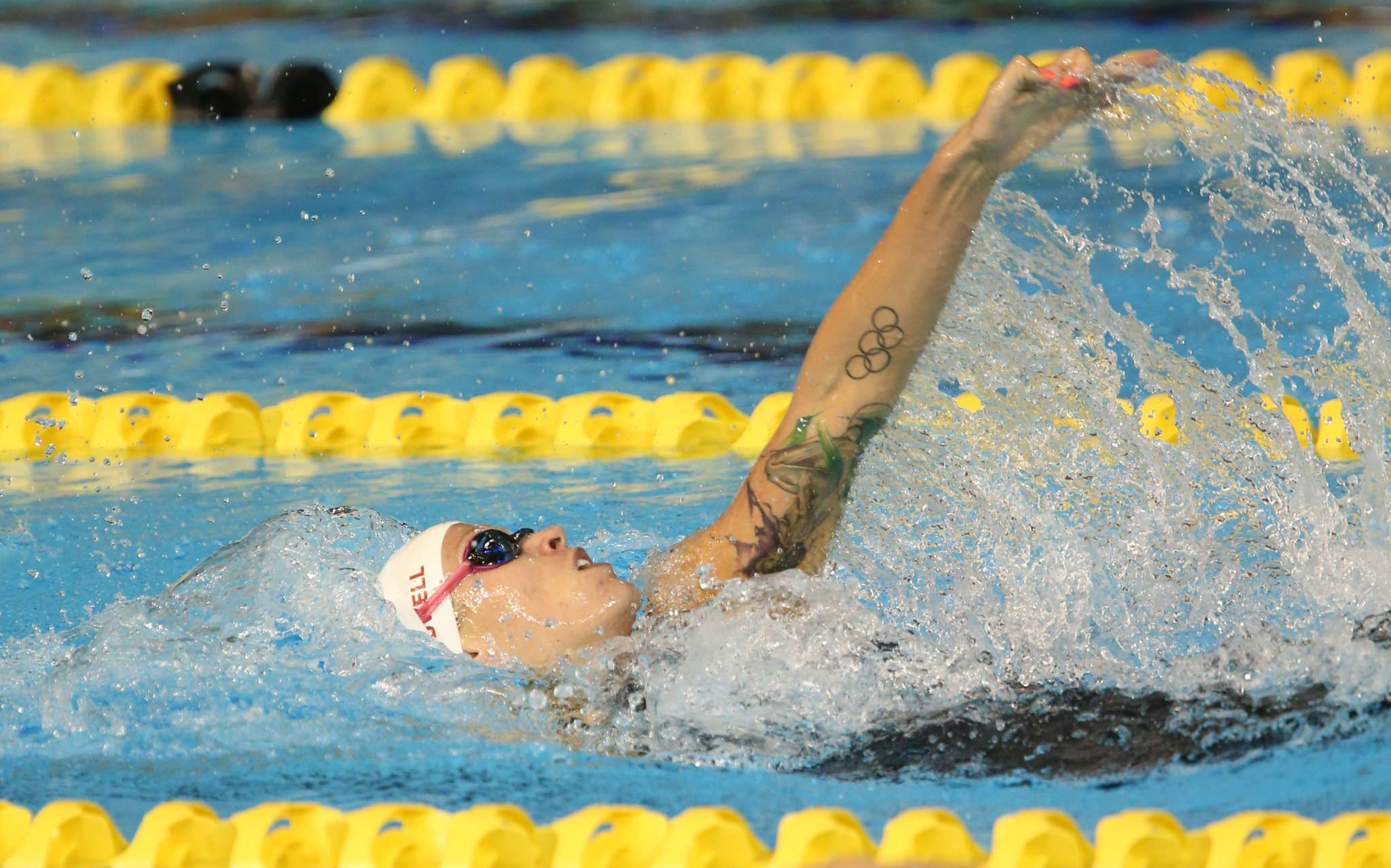 Backstroker Hilary Caldwell A Work Of Art In The Pool Swimming Canada
