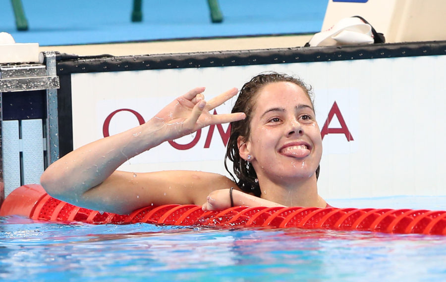 Rio de Janeiro-11/9/2016- Canadian swimmer Aurelie Rivard wins silver in the women's 200m IM finals at the Olympic Aquatic Centre during the 2016 Paralympic Games in Rio. Photo Scott Grant/Canadian Paralympic Committee