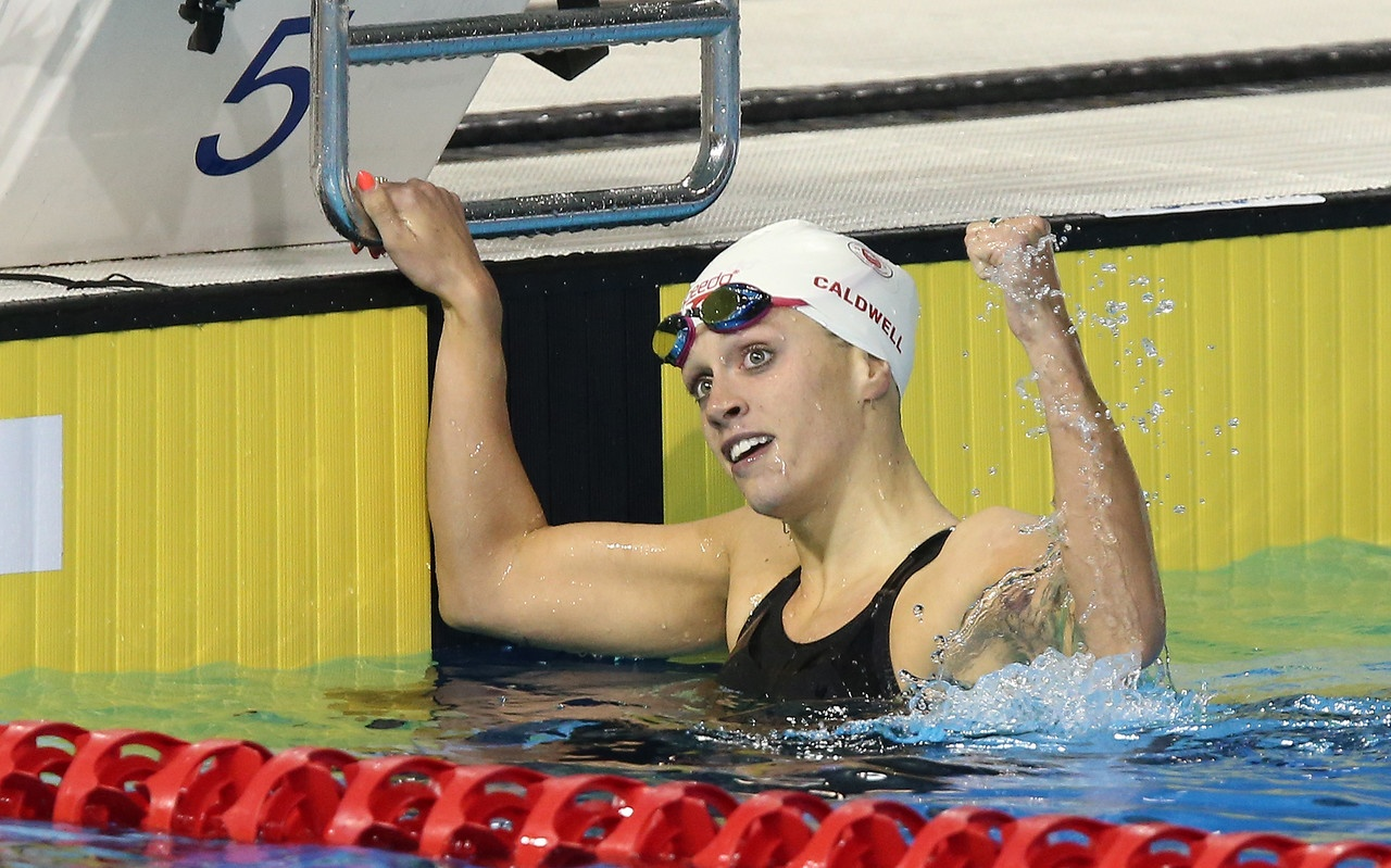 Gold World S Best Time For Hilary Caldwell At Arena Pro Swim Series Event Swimming Canada