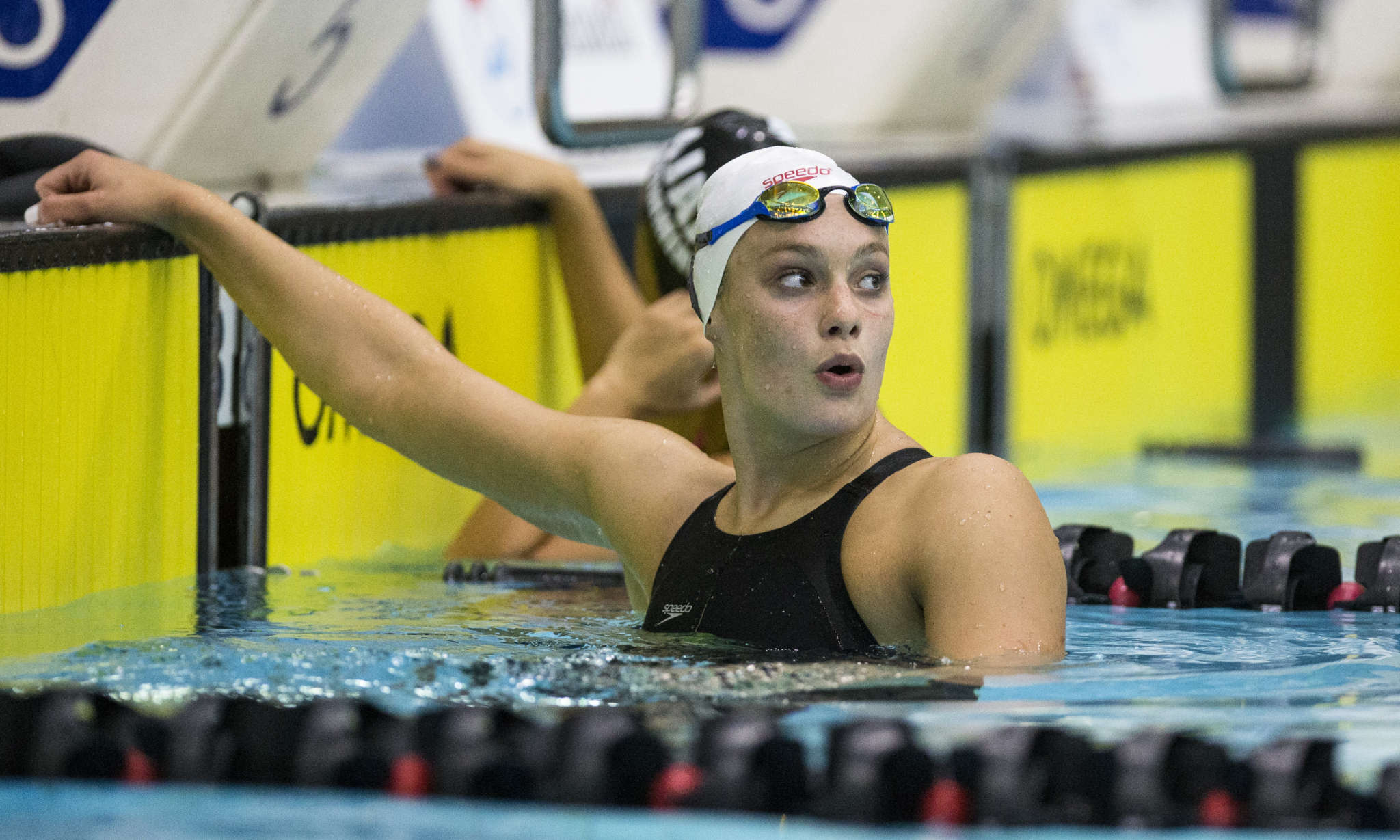 Penny Oleksiak shows fight to win 100-metre freestyle at ...